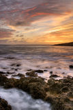 Dramatic landscape of sea Stock Images