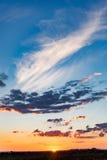 Dramatic landscape sunset Stock Images