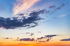 Dramatic landscape sunset Royalty Free Stock Photo
