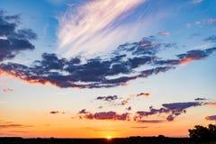 Dramatic landscape sunset Stock Photos