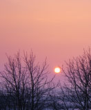 Dramatic landscape sunset Royalty Free Stock Photos