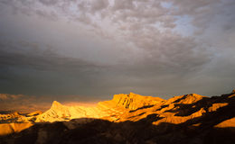 Dramatic Light Badlands Amargosa Mountain Range Death Valley  Royalty Free Stock Photography