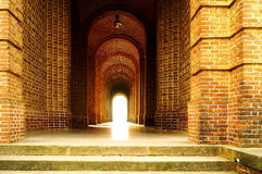 Dramatic lighting effect at the corridor Royalty Free Stock Image