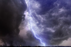 Dramatic lightning storm Stock Image