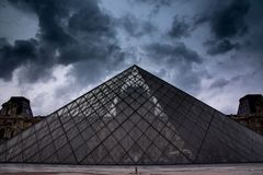 Dramatic Louvre Royalty Free Stock Images