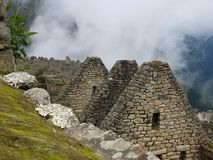 Dramatic Machu Picchu in the Clouds. The rain cleared up at Machu Picchu and gave me some very dramatic photographs royalty free stock photos
