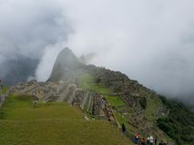 Dramatic Machu Picchu in the Clouds. The rain cleared up at Machu Picchu and gave me some very dramatic photographs royalty free stock photo