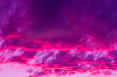 Dramatic Magenta Sunset. An intense purple and magenta sky of this dramatic sunset Royalty Free Stock Images