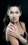 Dramatic make-up. Artistic young female Royalty Free Stock Images