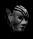 Dramatic Mask. Dramatic Black and white Mask Stock Images