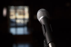 Dramatic Microphone Stock Photography