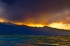 Dramatic Mono Lake Sunset Royalty Free Stock Photos