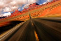 Dramatic Monument Valley Arizona Mile 13 View Stock Images