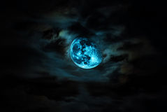 Dramatic Moon. An Dramatic Moon and cloud Royalty Free Stock Photo
