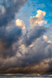 Dramatic morning sky with rain clouds Royalty Free Stock Image