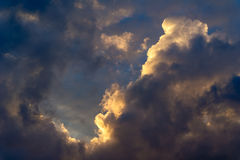 Dramatic morning sky with rain clouds royalty free stock photos