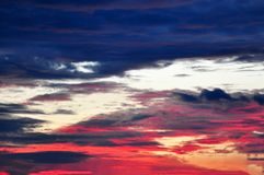 Dramatic Morning sky at Sunrise. Dramatic panorama morning sky atnsunrise.The clouds are burning by the sun. Sunset. Fire Royalty Free Stock Photography