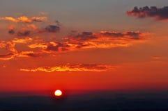 Dramatic Morning sky at Sunrise stock photography