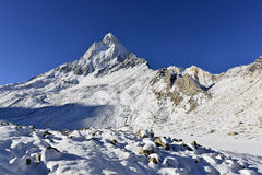 Dramatic Mount Shivling in the western Garhwal Royalty Free Stock Photo