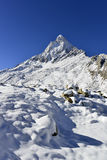 Dramatic Mount Shivling in the western Garhwal Royalty Free Stock Images