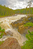 Dramatic Mountain Cascade Stock Image