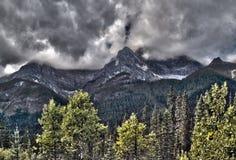 Dramatic Mountain HDR Royalty Free Stock Photo
