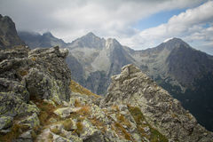 Dramatic mountain landscape in high tatras Stock Image
