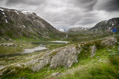 Dramatic mountain landscape in Scandinavia Royalty Free Stock Photography