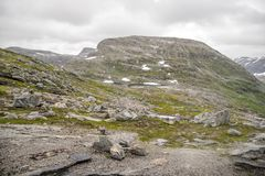 Dramatic mountain landscape in Scandinavia Royalty Free Stock Photo