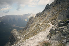 Dramatic mountain path Stock Photos
