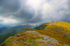 Dramatic mountain stormy landscape Royalty Free Stock Photography