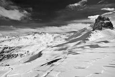 A dramatic mountain view Stock Photo