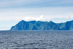 Dramatic mountains and peaks on Lofoten, Nordland, Norway royalty free stock photos