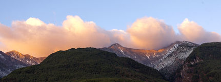 Dramatic Mountaintops Royalty Free Stock Photography