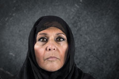 Dramatic muslim woman Stock Images