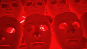 Dramatic mystery masks. Mystery human face sad masks stock footage