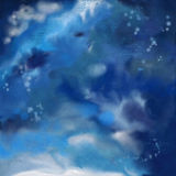 Dramatic Night Sky Painting Background Stock Photography