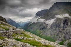 Dramatic norwegian landscape in cold summer Royalty Free Stock Image