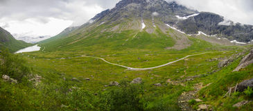 Dramatic norwegian landscape in cold summer Royalty Free Stock Photos