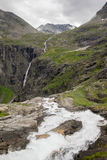 Dramatic norwegian landscape in cold summer Royalty Free Stock Photography