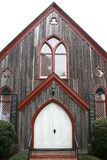 Dramatic oak wooden church doors Royalty Free Stock Image