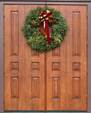Dramatic oak wooden church doors Royalty Free Stock Images