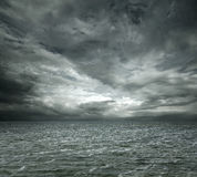 Dramatic ocean. Background with copy space royalty free stock photography