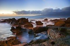 Dramatic Ocean Sea with Dark Purple Royalty Free Stock Photo