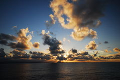 Dramatic Ocean Sky. At Sunset stock images