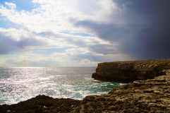 Dramatic ocean and sky Royalty Free Stock Images