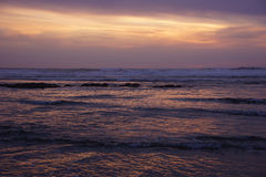Dramatic ocean sunset Stock Photos