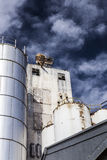 Dramatic old Silo. A deep blue sky above a weathered old silo Royalty Free Stock Photos