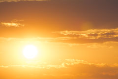 Dramatic orange sunset Royalty Free Stock Photo