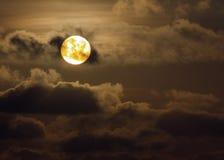 Dramatic orange sunset Stock Photo